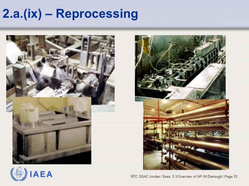 2.a.(ix) – Reprocessing