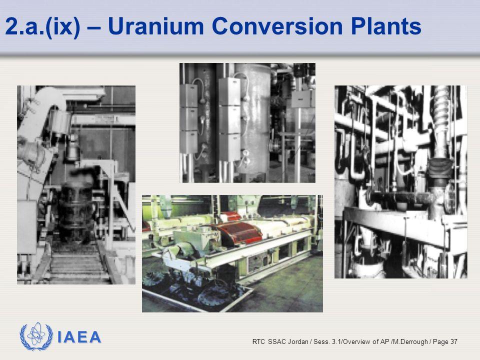 2.a.(ix) – Uranium Conversion Plants