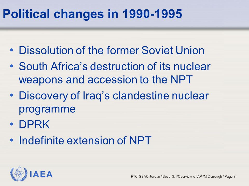 Political changes in 1990-1995 Dissolution of the former Soviet Union