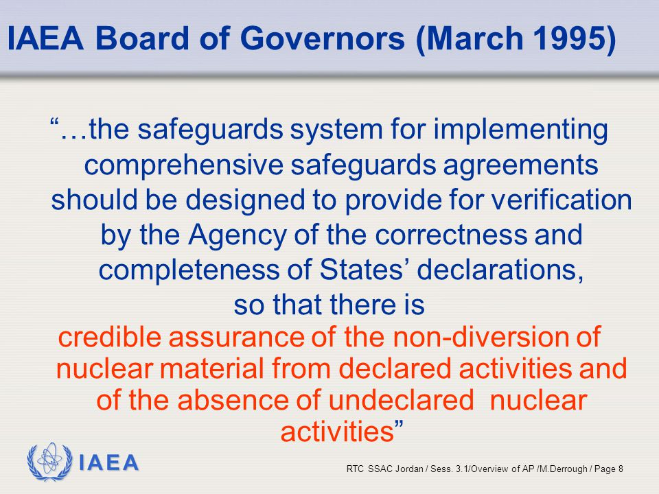 IAEA Board of Governors (March 1995)