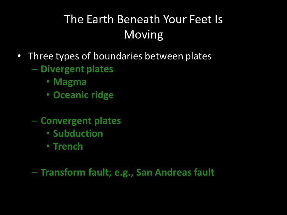 The Earth Beneath Your Feet Is Moving
