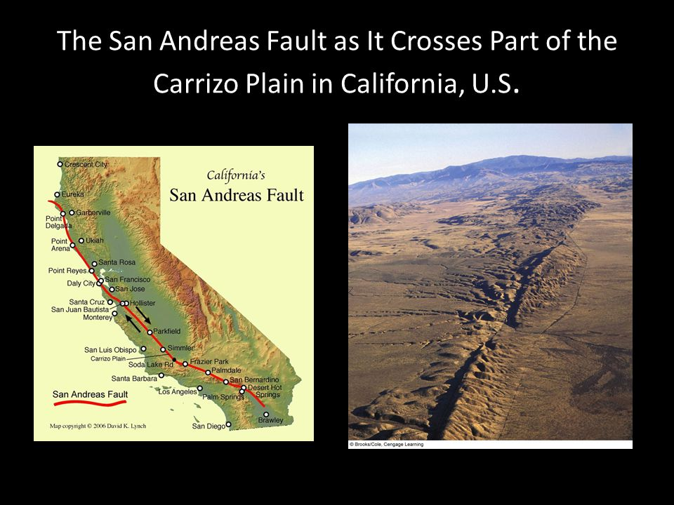 The San Andreas Fault as It Crosses Part of the Carrizo Plain in California, U.S.
