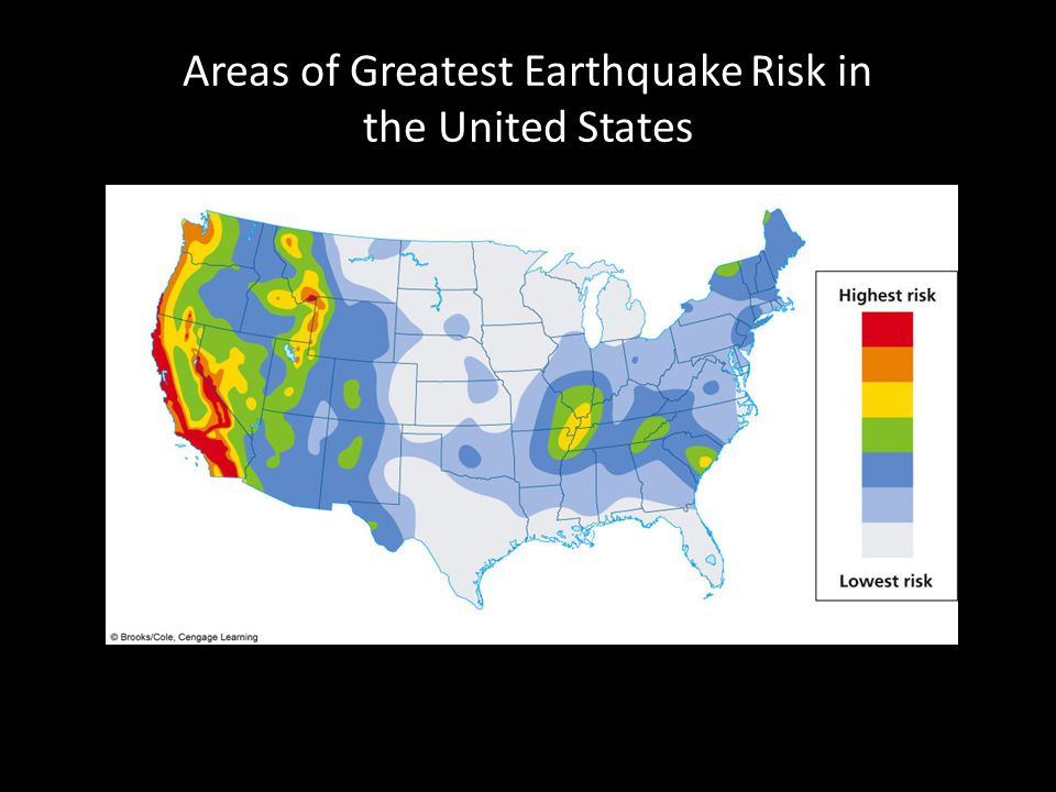 Areas of Greatest Earthquake Risk in the United States