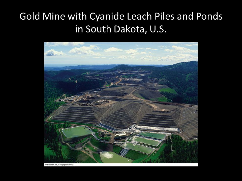 Gold Mine with Cyanide Leach Piles and Ponds in South Dakota, U.S.