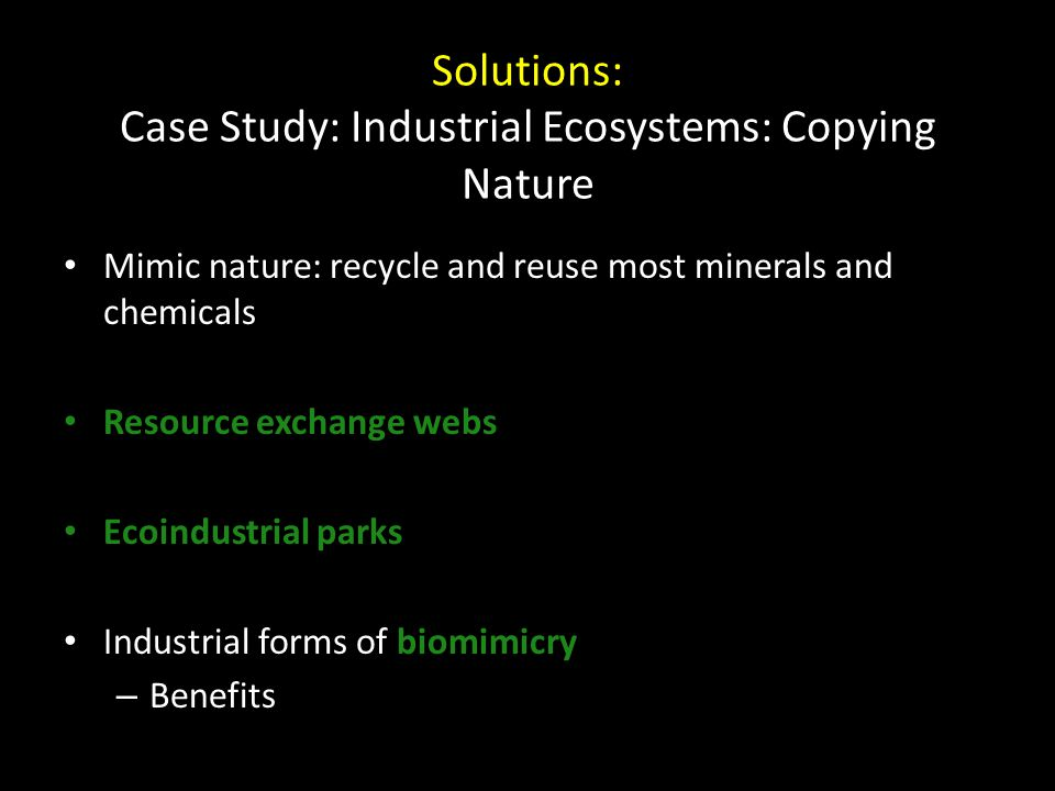 Solutions: Case Study: Industrial Ecosystems: Copying Nature