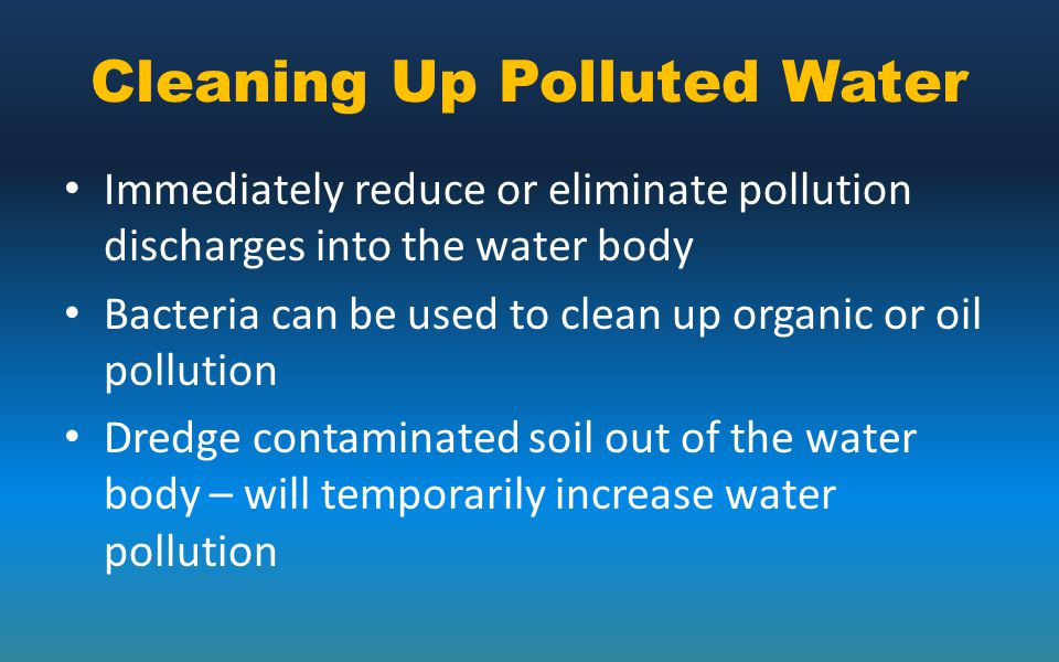 Cleaning Up Polluted Water