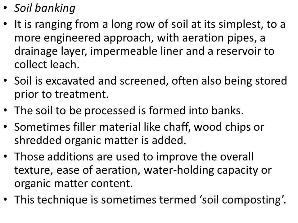 Soil banking
