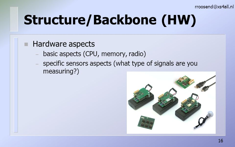 Structure/Backbone (HW)