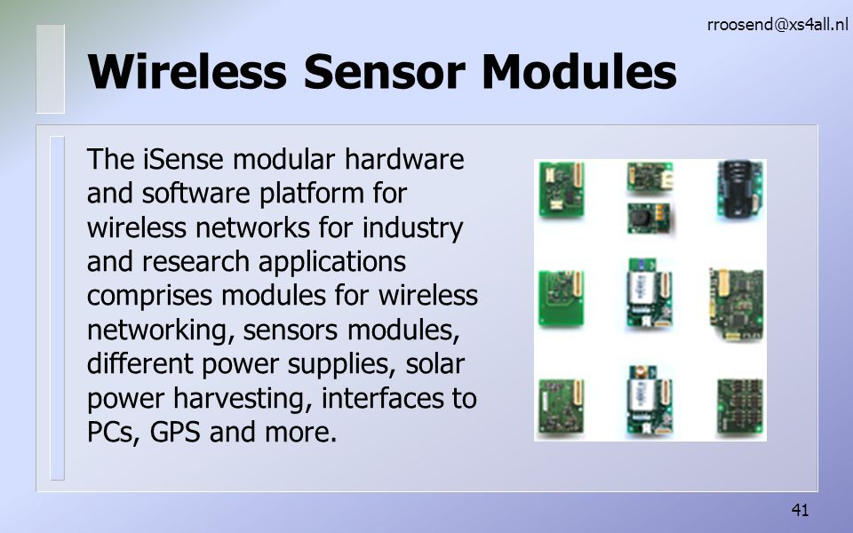 Wireless Sensor Modules