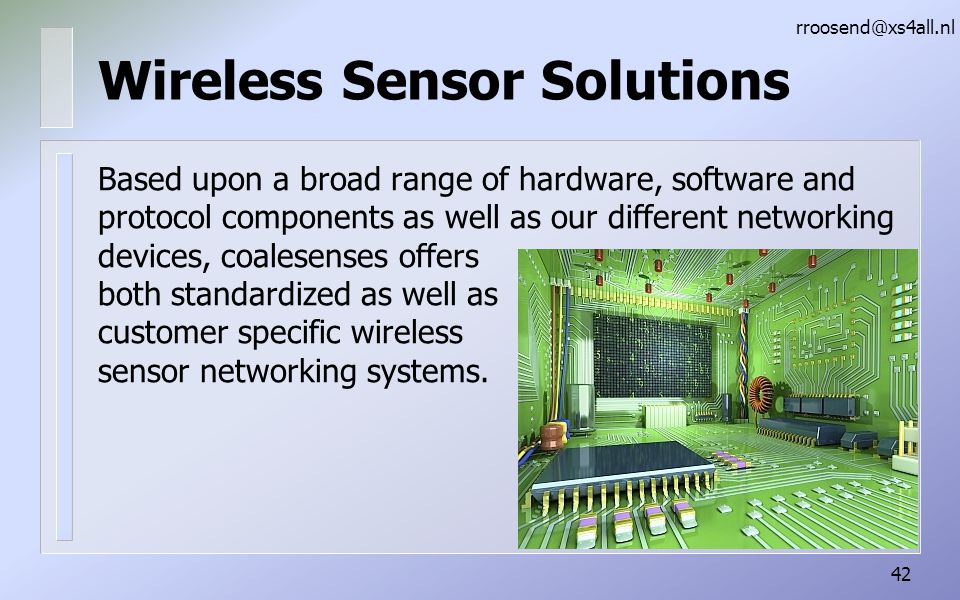 Wireless Sensor Solutions