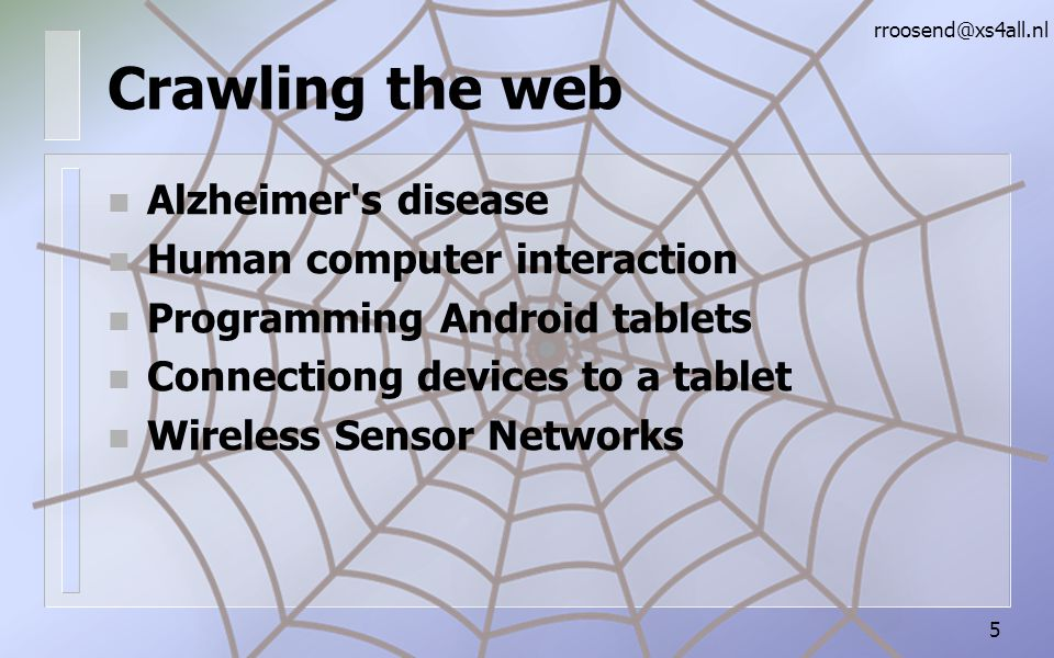 Crawling the web Alzheimer s disease Human computer interaction