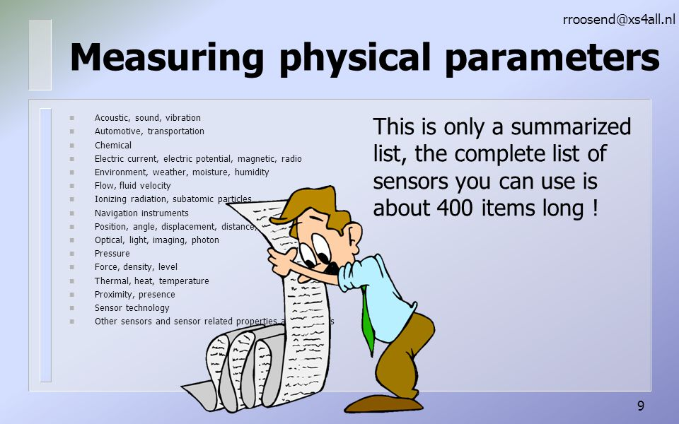 Measuring physical parameters