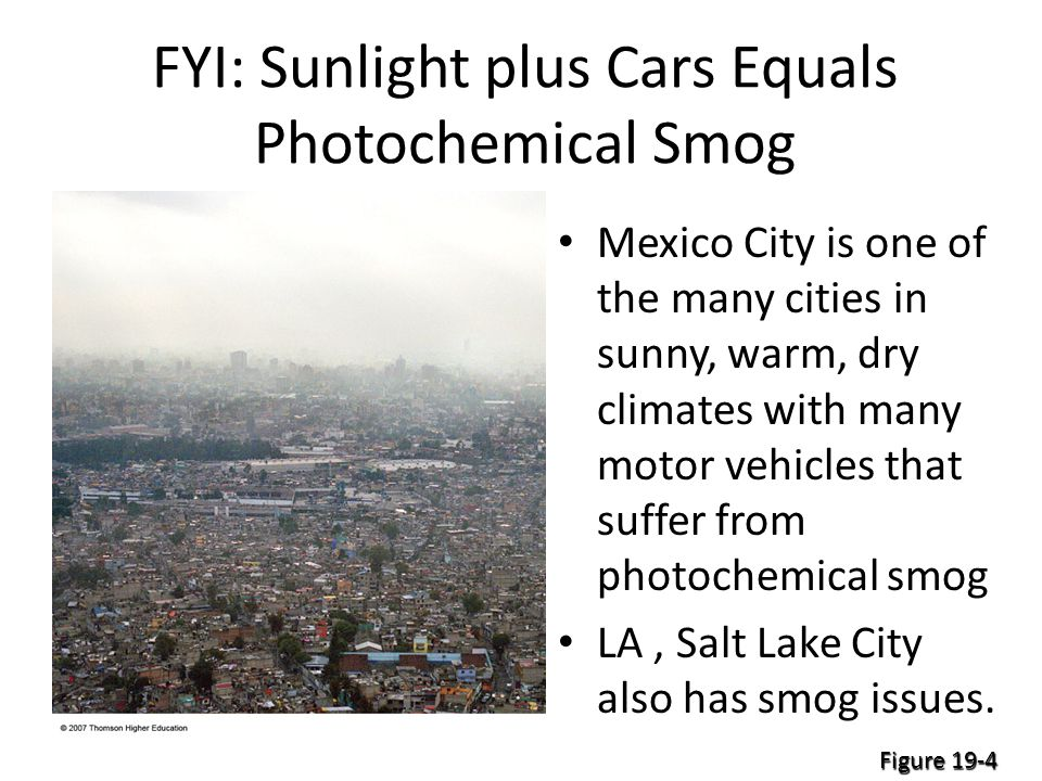 FYI: Sunlight plus Cars Equals Photochemical Smog