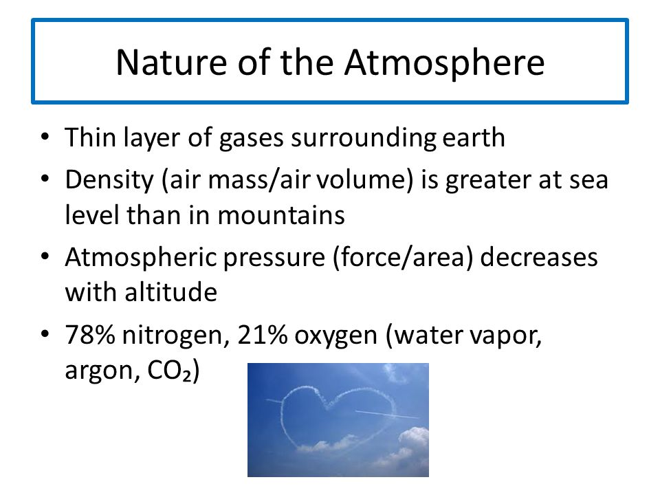 Nature of the Atmosphere