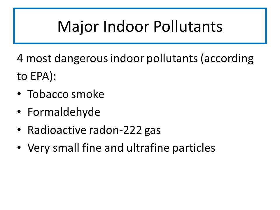 Major Indoor Pollutants