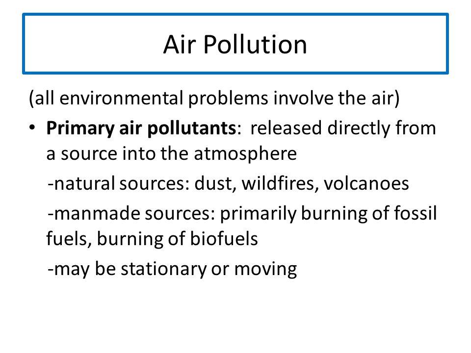 Air Pollution (all environmental problems involve the air)