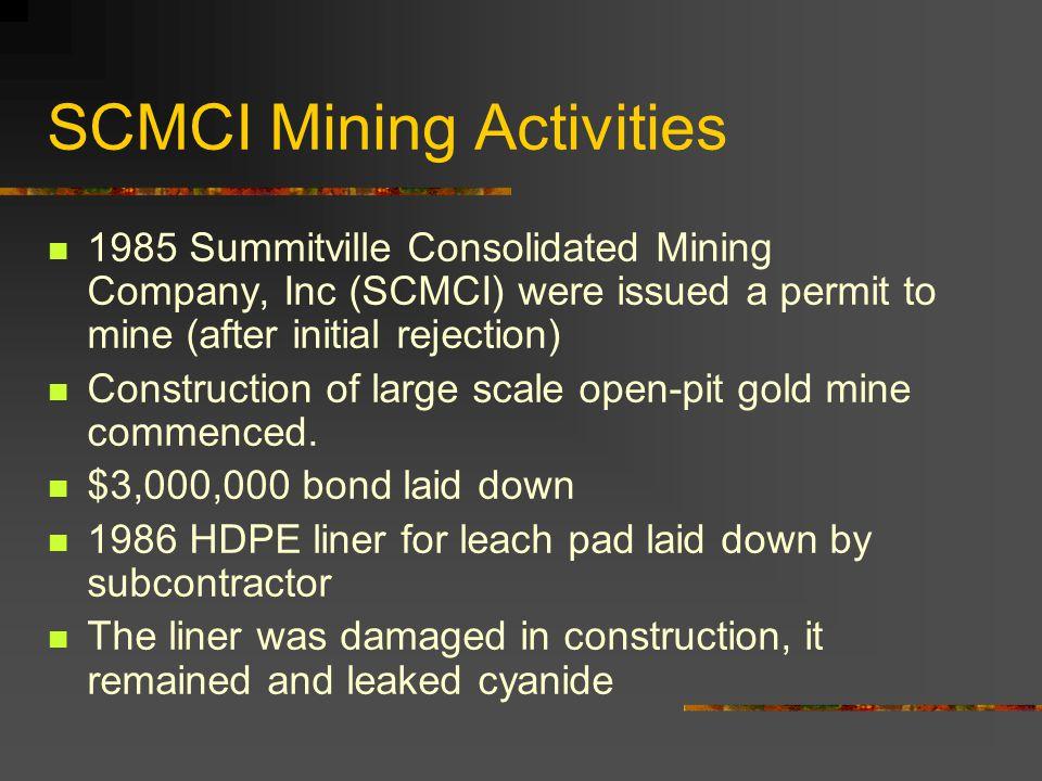 SCMCI Mining Activities