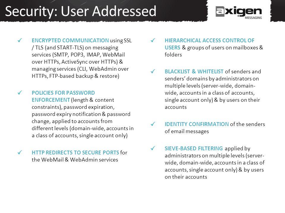 Security: User Addressed