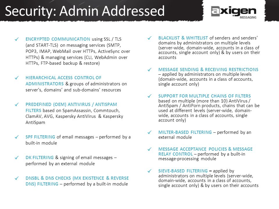 Security: Admin Addressed