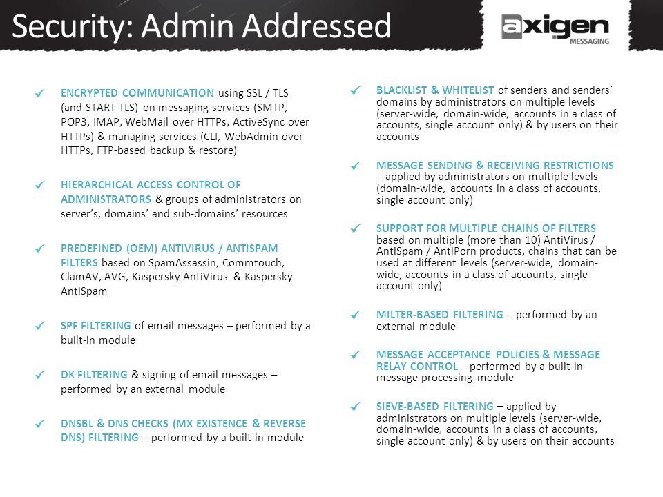 Security: Admin Addressed