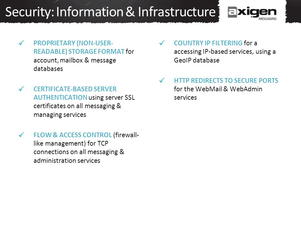 Security: Information & Infrastructure