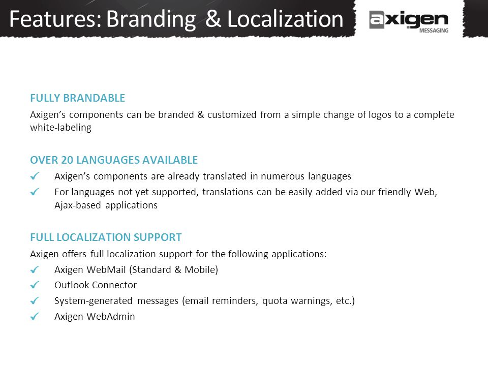 Features: Branding & Localization