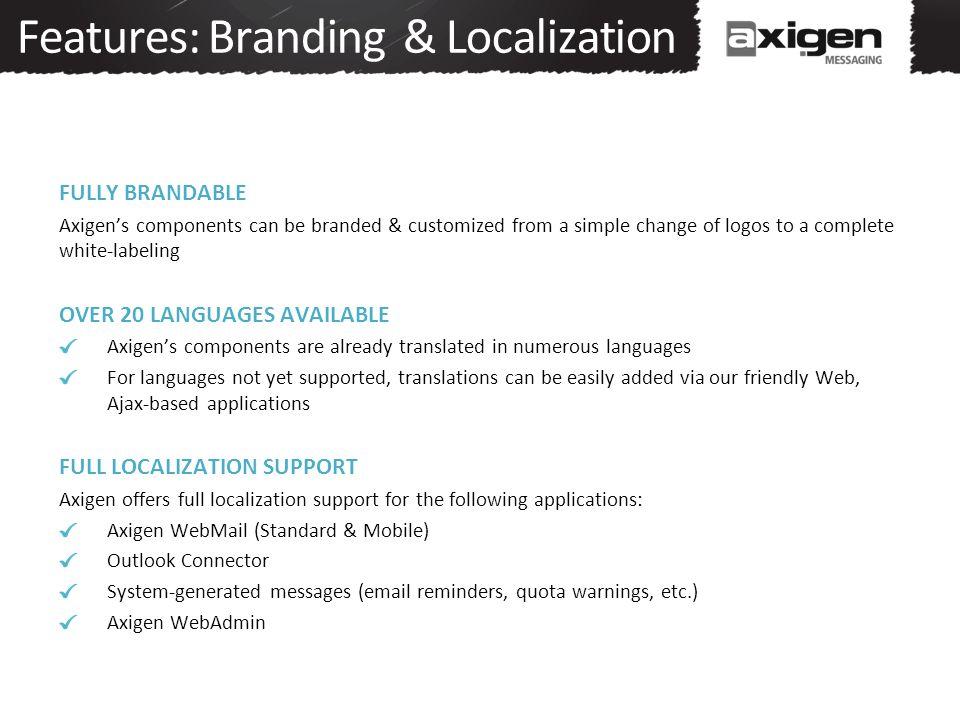 Features: Branding & Localization