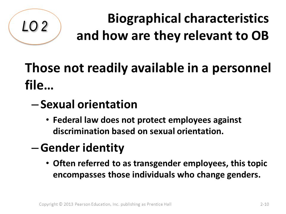 Biographical characteristics and how are they relevant to OB