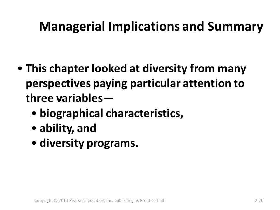 Managerial Implications and Summary