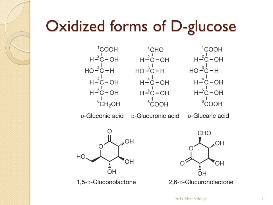 Oxidized forms of D-glucose