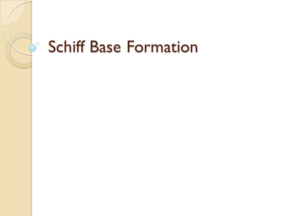 Schiff Base Formation