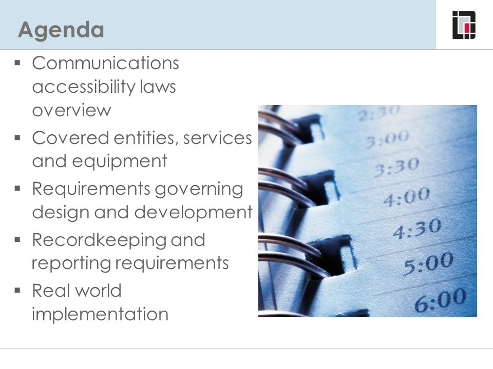 Agenda Communications accessibility laws overview