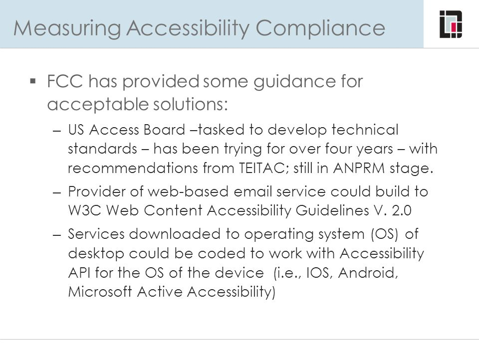 Measuring Accessibility Compliance