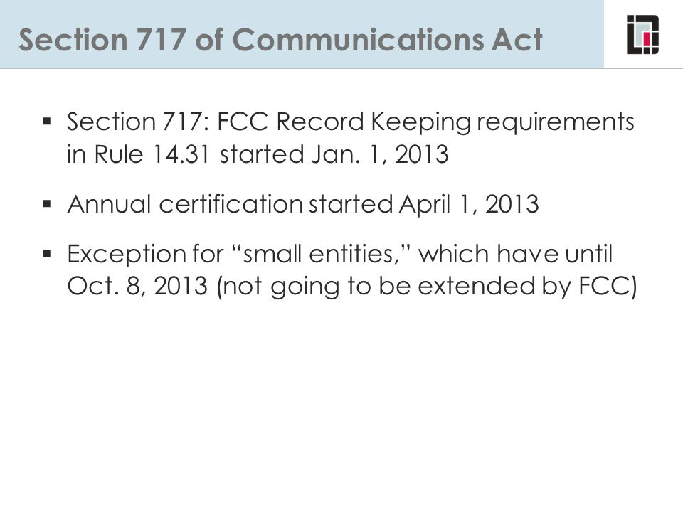 Section 717 of Communications Act