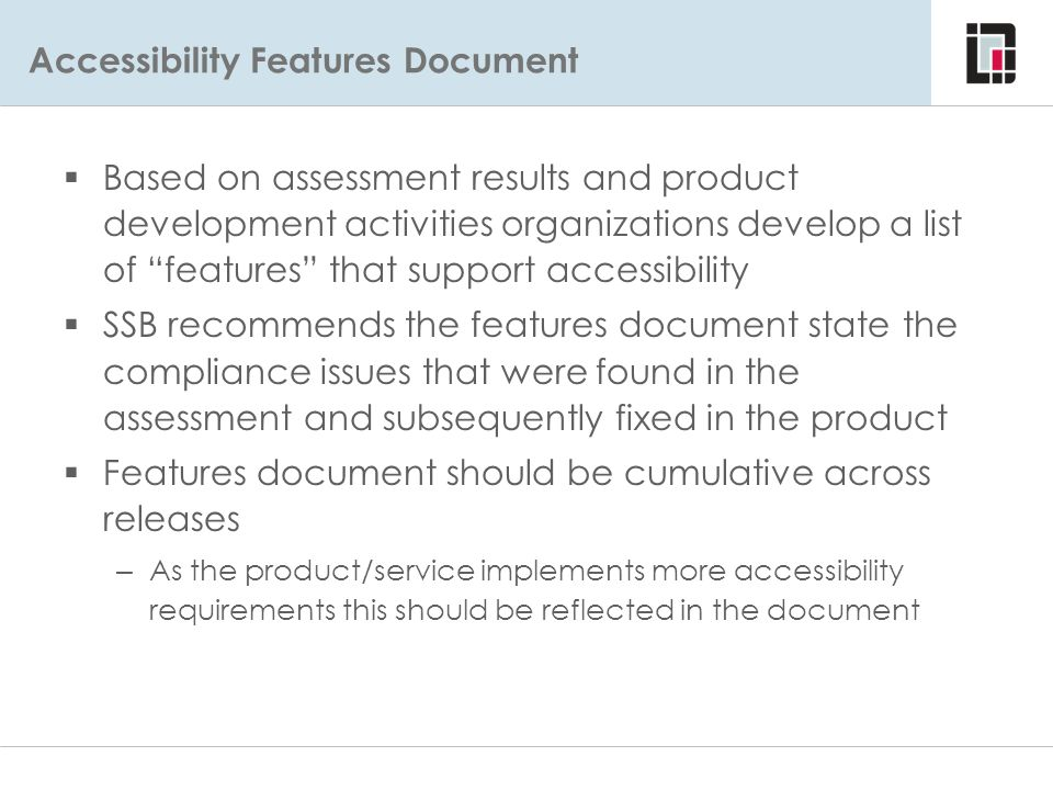 Accessibility Features Document