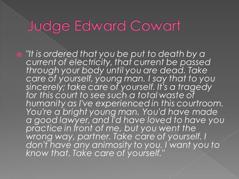 Judge Edward Cowart