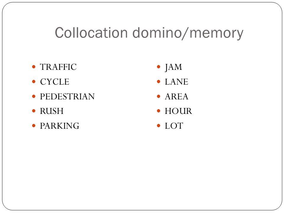 Collocation domino/memory
