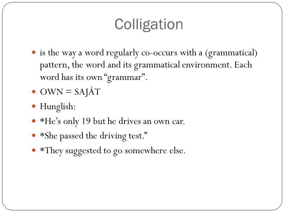 Colligation