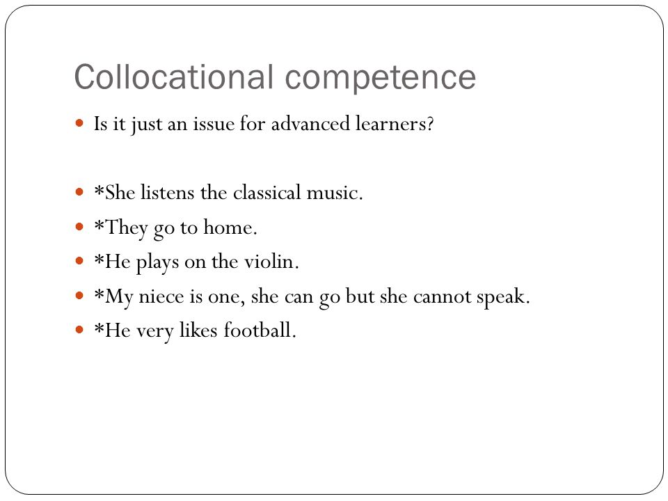 Collocational competence