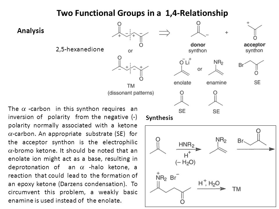 Two Functional Groups in a 1,4-Relationship
