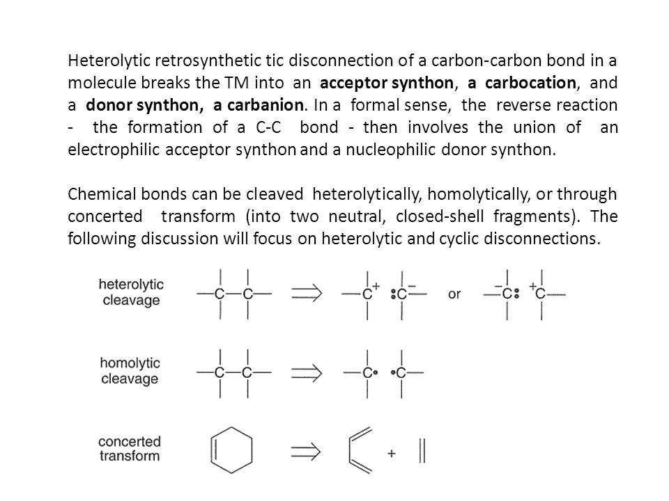 disconnections in retrosynthesis Aspects of organic synthesis strategy / retrosynthesis n p or strategic disconnections strategic • retrosynthesis - the sequential simplification of a.