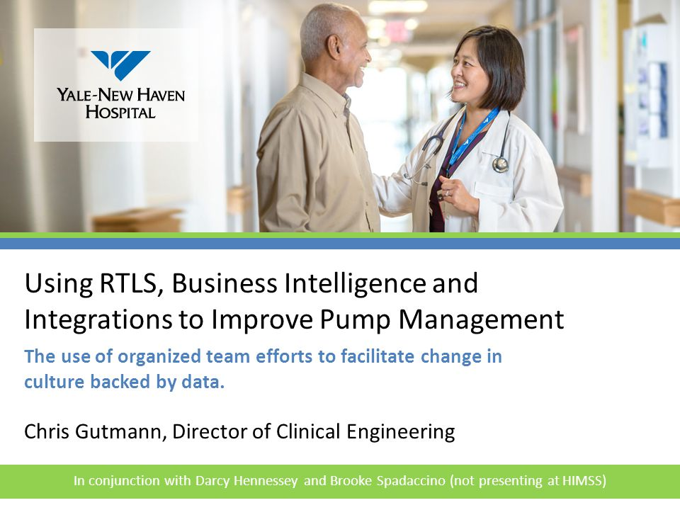 4/14/2017 Using RTLS, Business Intelligence and Integrations to Improve Pump Management.