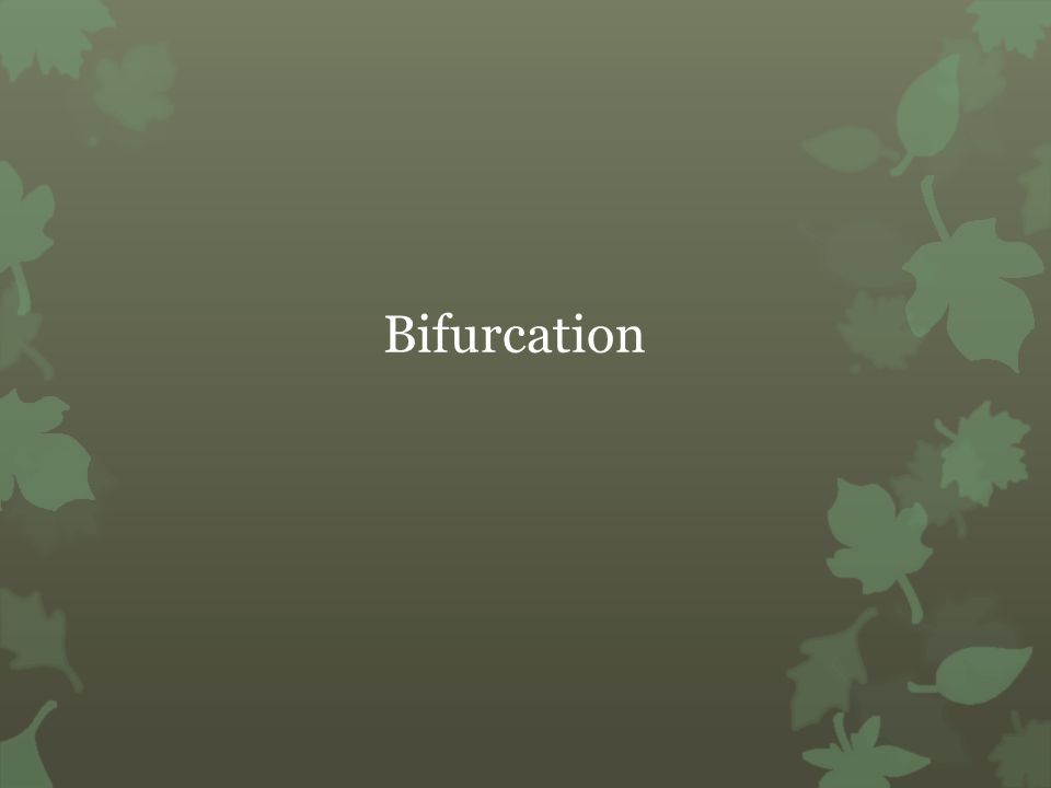 Bifurcation