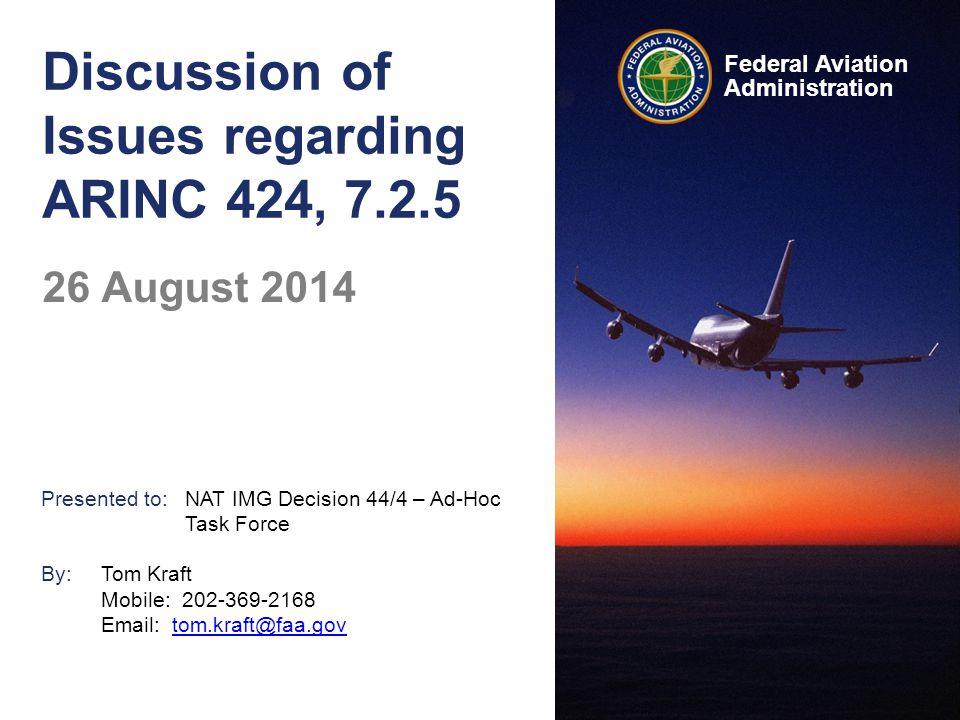 Discussion of Issues regarding ARINC 424, 7.2.5