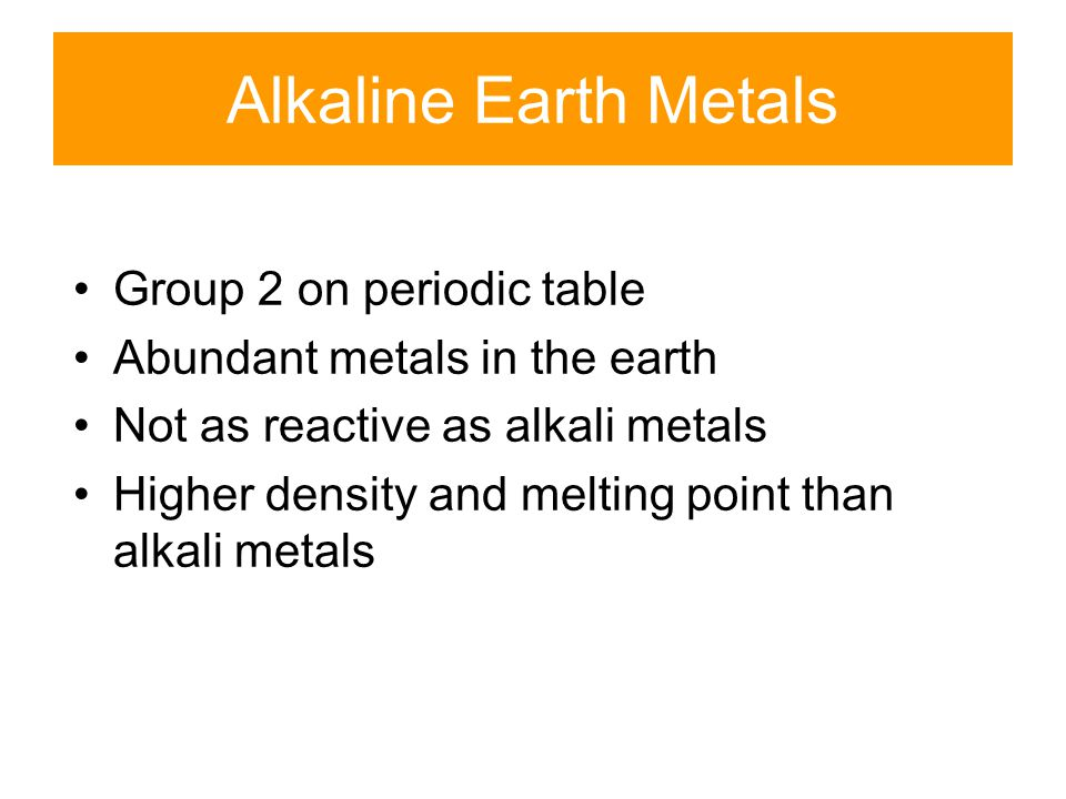 Alkaline Earth Metals Group 2 on periodic table