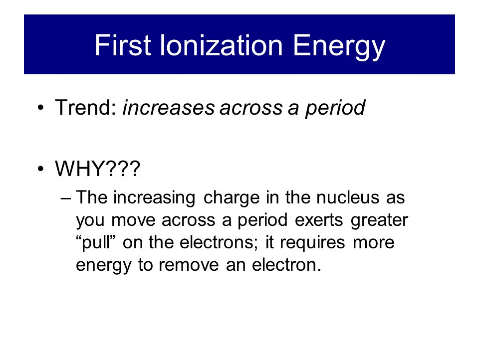 First Ionization Energy