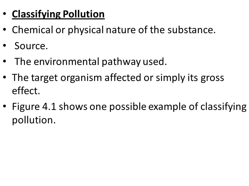 Classifying Pollution