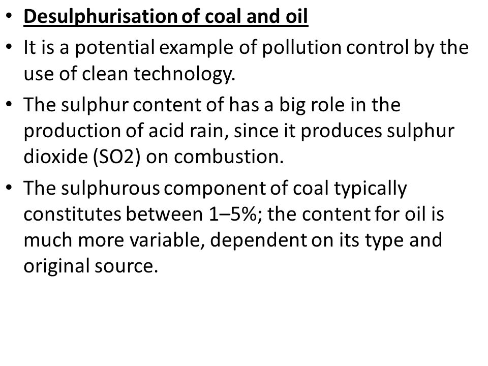 Desulphurisation of coal and oil