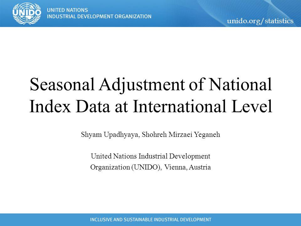 Seasonal Adjustment of National Index Data at International Level