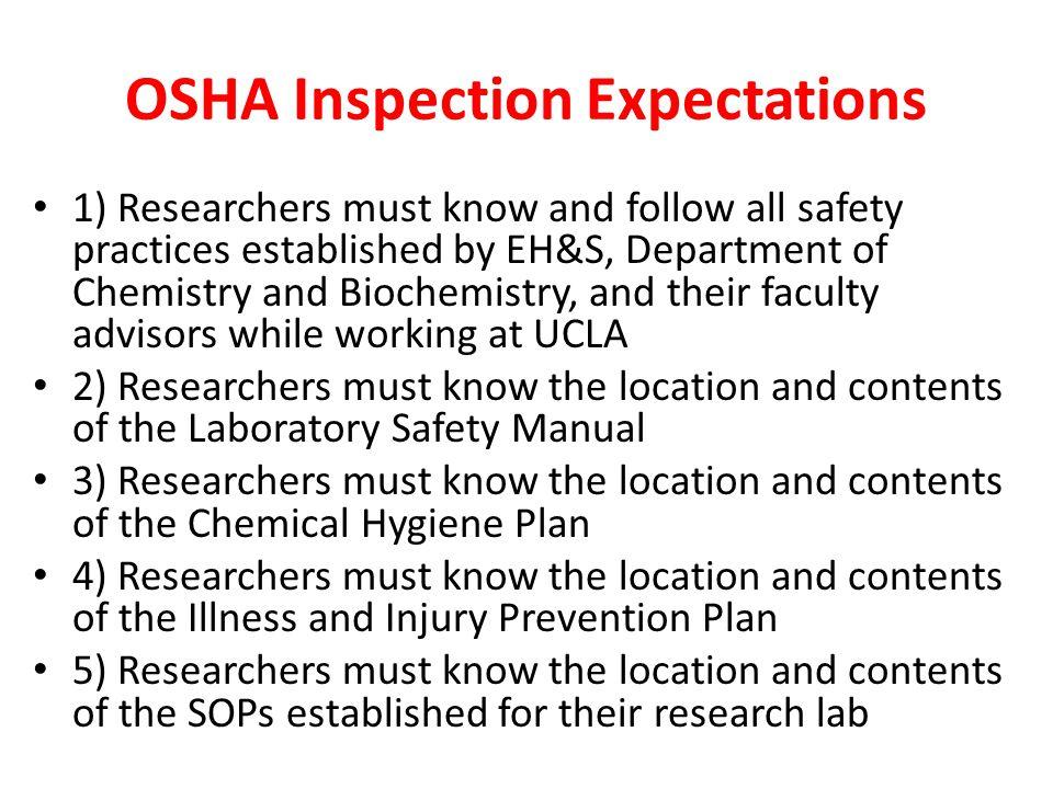 OSHA Inspection Expectations